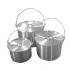Tramp набор котлов алюминиевых с крышкой 4,8л+9л+13л