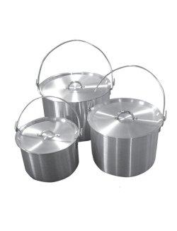 Изображение Набор котлов алюминиевых с крышкой 4,8л+9л