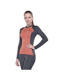 Изображение Destroyer футболка с длинным рукавом женская Tracking (серый/оранжевый)