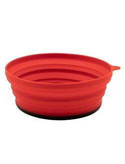 Изображение Tramp тарелка силиконовая с пластиковым дном 550 мл (терракотовый)