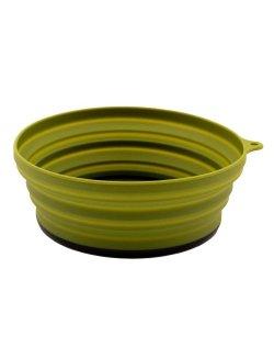 Изображение Tramp тарелка силиконовая с пластиковым дном 550 мл (оливковый)