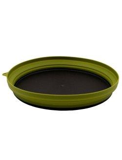 Изображение Tramp тарелка силиконовая с пластиковым дном 1070 мл (оливковый)