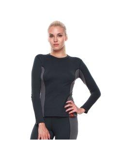 Изображение Bask Co Блуза Slim Fit Pon Lady Sleeve (серый/темно-серый)