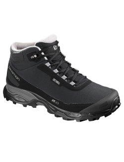 Изображение Salomon ботинки SHELTER SPIKES CS WP (bk/bk/frost)