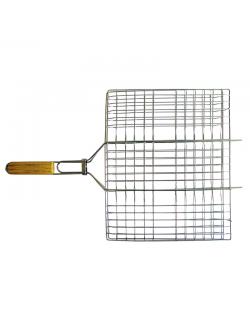 Изображение Решетка-гриль хром плоск малая 35*26.5см.