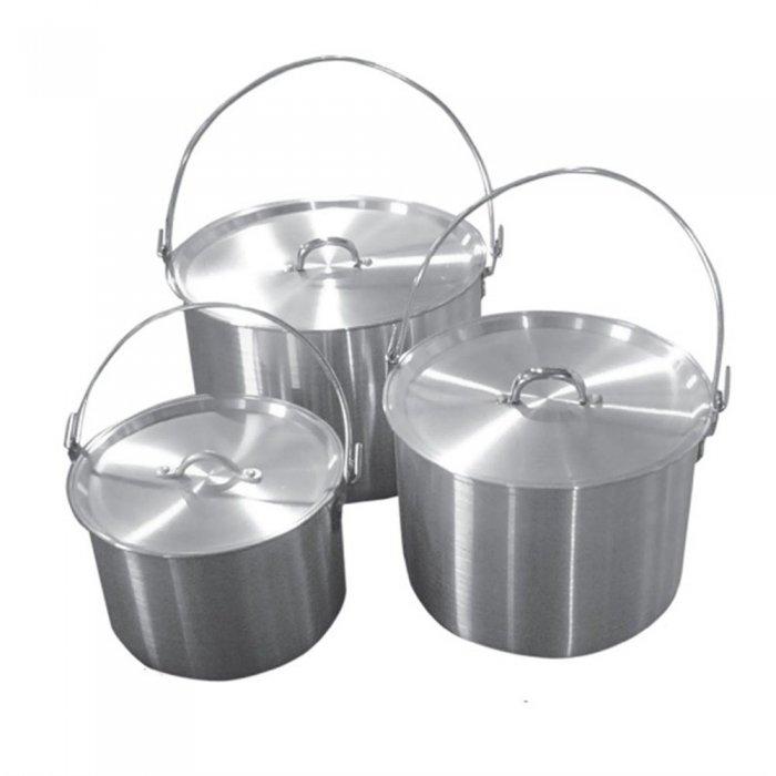 Tramp набор котлов алюминиевых с крышкой 4,8л+9л