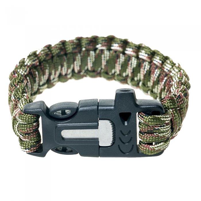 Tramp браслет выживальщика (свисток, огниво/2 метра паракорда) (камуфляж)