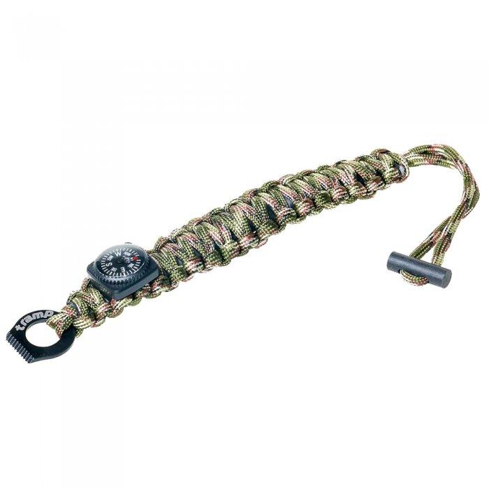 Tramp браслет выживальщика (компас, огниво/2 метра паракорда) (камуфляж)