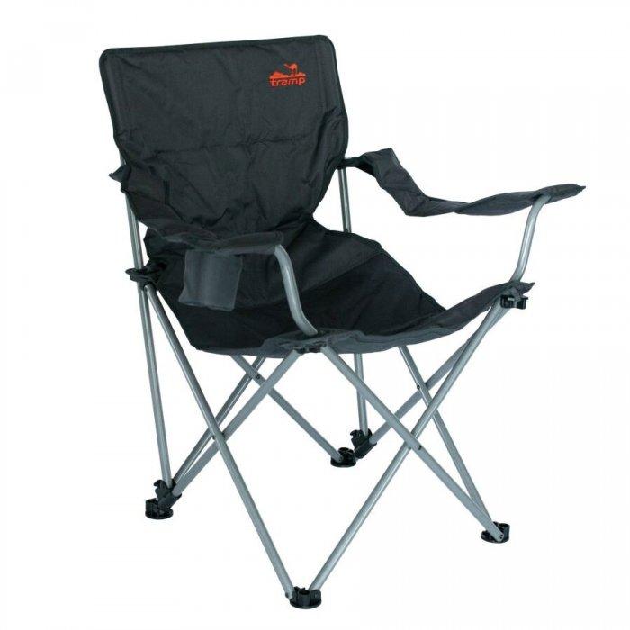 Tramp кресло с регулируемым наклоном спинки (черный/серый)