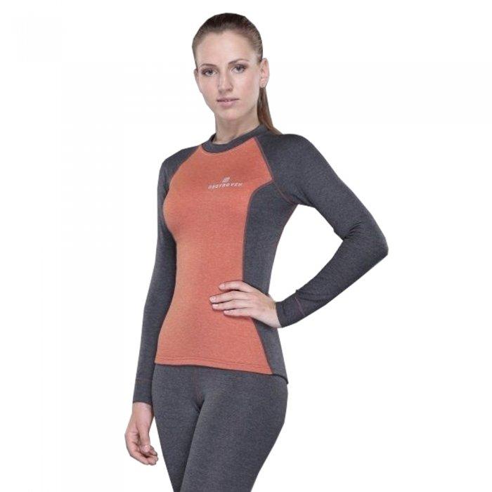 Destroyer футболка с длинным рукавом женская Tracking (серый/оранжевый)