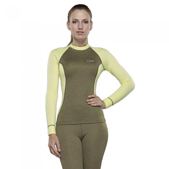 Destroyer футболка с длинным рукавом женская Tracking (зеленый/желтый)