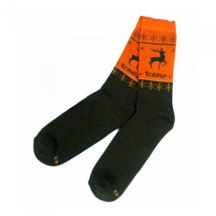 Tramp носки Hunting Seeker (хаки/оранжевый)