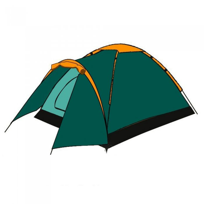 Палатка Totem Summer 3 Plus (V2) (зеленый)