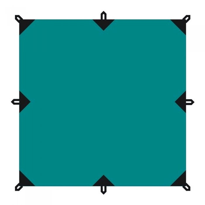 Tramp тент 3х3 м со стойками 3 м + оттяжки (зеленый)
