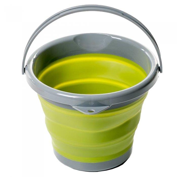 Tramp ведро складное силиконовое 5 л (оливковый)