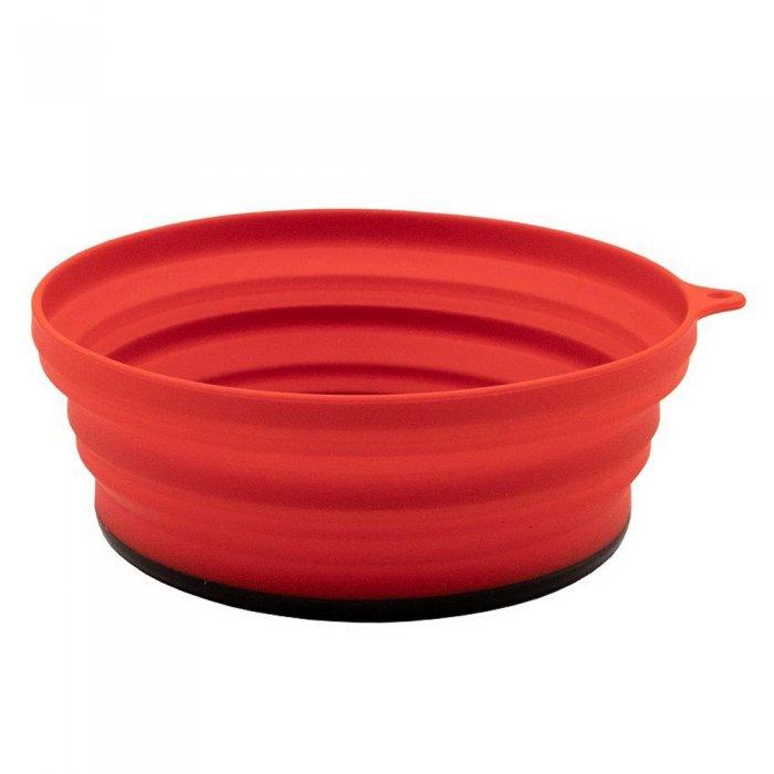 Tramp тарелка силиконовая с пластиковым дном 550 мл (терракотовый)