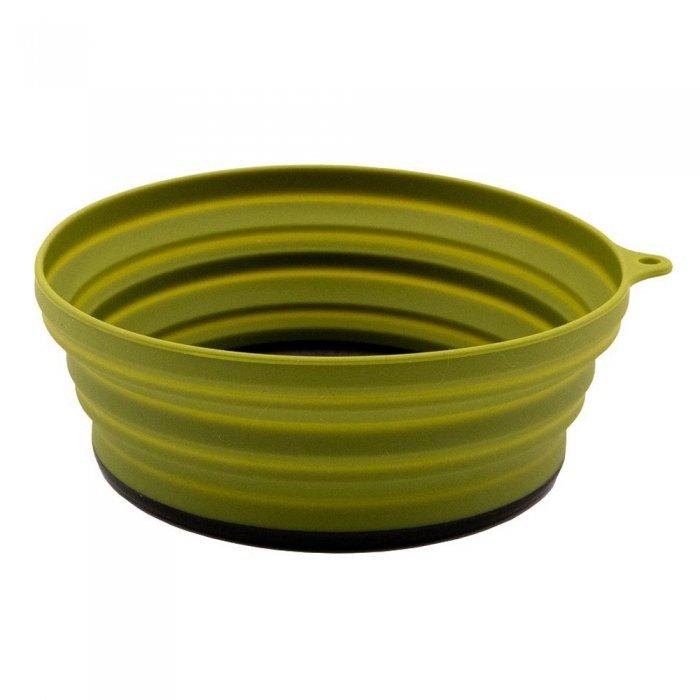 Tramp тарелка силиконовая с пластиковым дном 550 мл (оливковый)