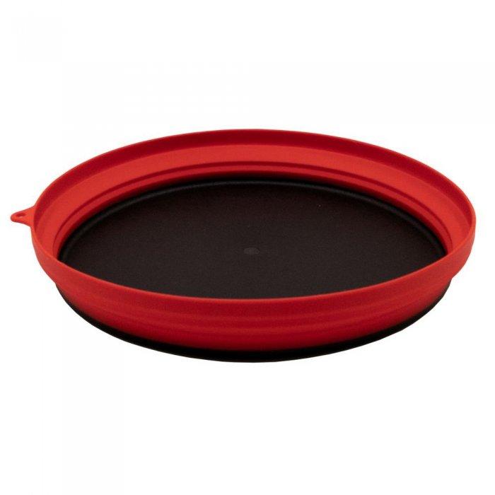 Tramp тарелка силиконовая с пластиковым дном 1070 мл (терракотовый)