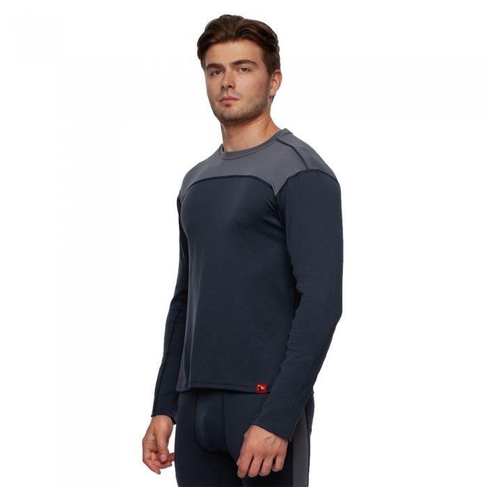 Bask Co Блуза мужская Slim Fit Pon U Sleeve (серый/темно-серый)