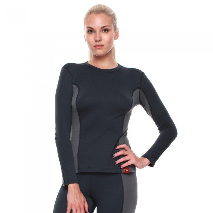 Bask Co Блуза Slim Fit Pon Lady Sleeve (серый/темно-серый)