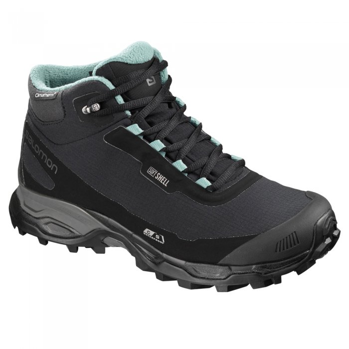 Salomon ботинки SHELTER SPIKES CS WP W (bk/bk/tre )
