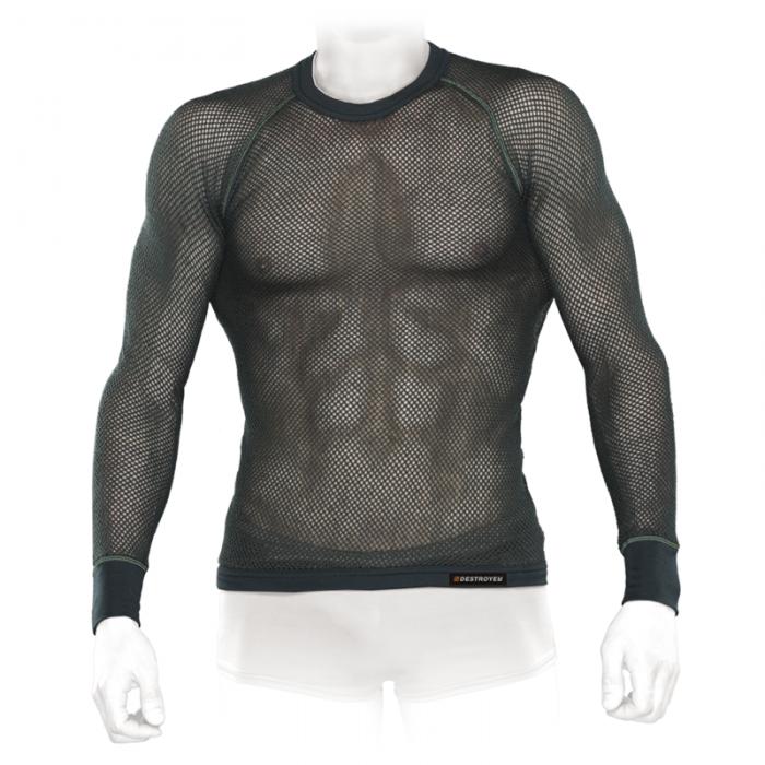 Tramp футболка с длинным рукавом мужская Super Mesh Active (хаки)