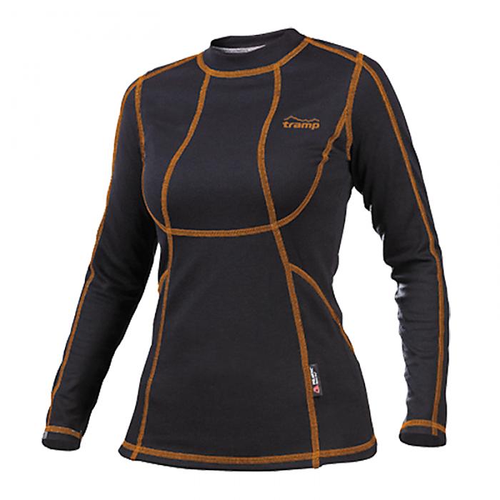 Tramp футболка с длинным рукавом женская Fast Dry (черный)