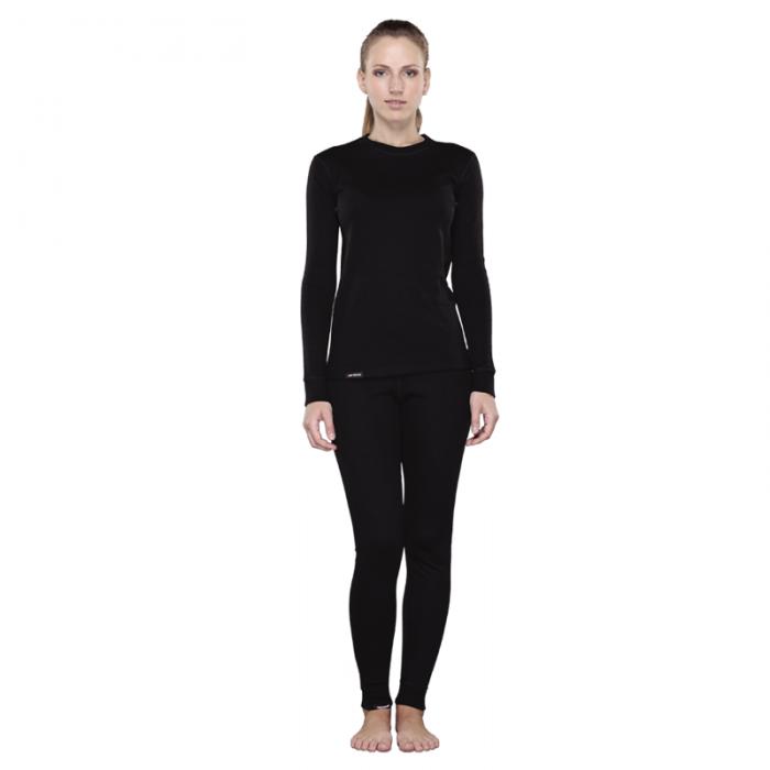 Tramp футболка с длинным рукавом женская Outdoor Walk (черный)