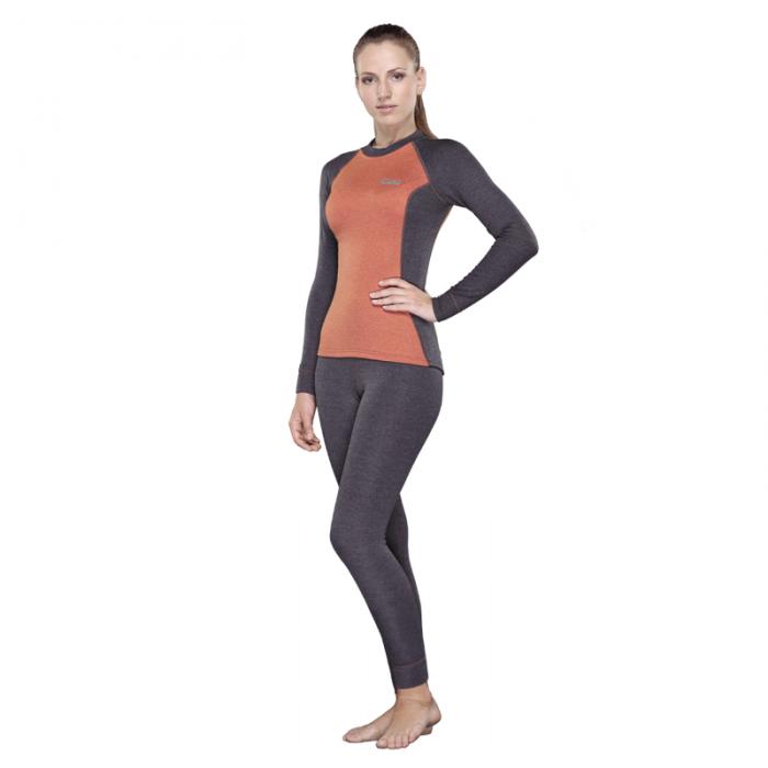 Tramp футболка с длинным рукавом женская Trekking (серый/оранжевый)