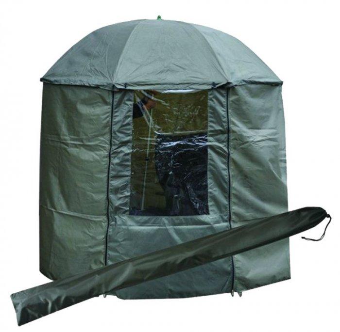 Tramp зонт рыболовный 200 см с пологом (зеленый)