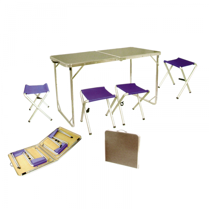Tramp мебель набор в кейсе TRF-005 (серый/синий)