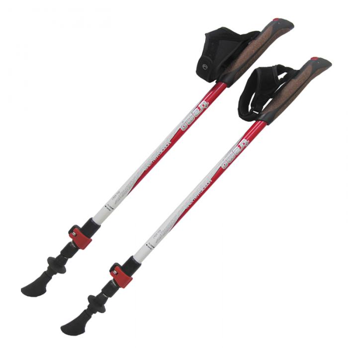 Tramp палки для скандинавской ходьбы Compact (красный-белый)