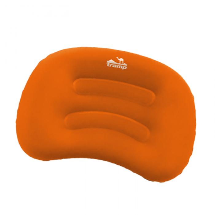 Tramp подушка надувная под голову (дорожная) TRA-160 (оранжевый/серый)