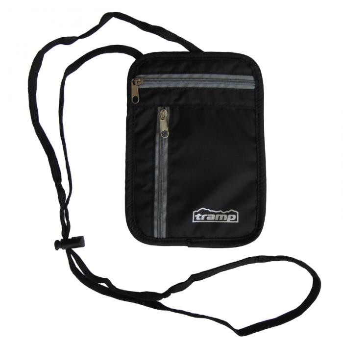 Tramp кошелек нагрудный малый (черный)