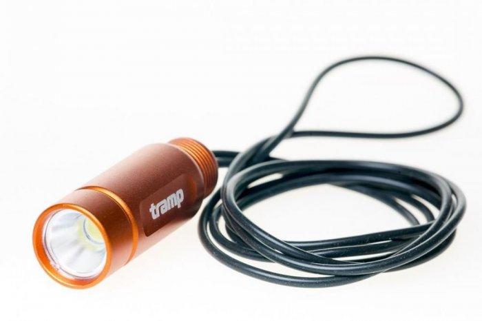 Tramp фонарь-брелок на силиконовом шнуре (оранжевый)
